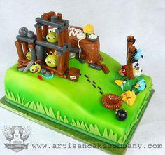 Angry Birds Birthday Cake, made by Elizabeth Marek!