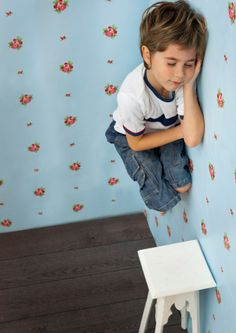 Stock Photo : Child hanging on the wall, while sleeping