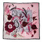 Soulful, 90x90 Twill silk scarf by Marja Kurki Finland