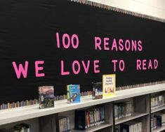 Library center and motivational bulletin board: This elementary reading bulletin board for the library or classroom starts with a learning center where students write on hearts why they love reading. Check out this blog post with free printable resources. #LibraryLearners