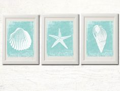 Printable Beach Decor, Bathroom Instant Download,  Coastal Decor, Beach Wall Art, Seashell Starfish Modern Beach