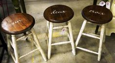 so stinking cute.  each boy could have their own stool with their name on it.  LOVE!!!!!!!!!!