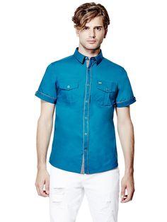 Darian Short-Sleeve Poplin Shirt