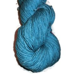 Mint Superwash Merino Fingering Yarn - Teal Hand Dyed Yarn - Teal Fingering Weight Merino Yarn - Dark Bluegreen Sock Weight 4 Ply Yarn