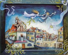 Wedding on the Old Town - Emma Srncova Old Things, Drawings, Painting, Prague, Illustrations, Google Search, Youtube, Wedding, Art
