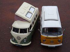 VW T1 Transporter (Splittie/Bulli) Camper by Schuco & Type 2 (Bay Window/Bulli) by Premium Classixxs Photo credit: andreboeni via Foter.com…