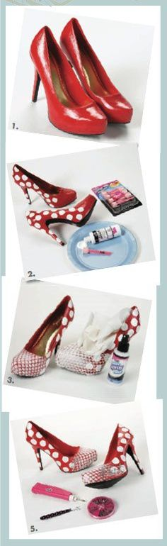 Make these flirty shoes in 6 steps! By Pattie Donham Wilkinson, as seen in Cloth Paper Scissors