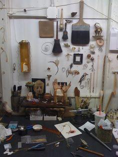 Jeweler Curtis Stiener's workspace
