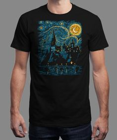 """""""Starry School"""" is today's £9/€11/$12 tee for 24 hours only on www.Qwertee.com Pin this for a chance to win a FREE TEE this weekend. Follow us on pinterest.com/qwertee for a second! Thanks:)"""
