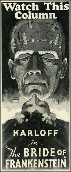 Slobber Drool Drip Has Risen from the Grave  the BRIDE OF FRANKENSTEIN (1935)