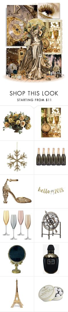 """New Years Eve"" by infinite-stars29 ❤ liked on Polyvore featuring Parlane, Hermès, Rubin Singer, Dolce&Gabbana, LSA International, Alexander McQueen, Merci Gustave!, Charbonnel et Walker and Black Pearl"