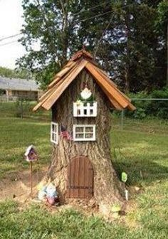 Mom Didn't Know What To Do With Her Tree Stump, So She Transformed It Into THIS... I Want One, Too!