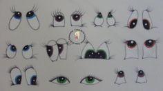 Gabaritos De Desenho E Pintura De Olhos Bocas Letras E N Meros