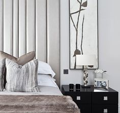 Luxuriously chic contemporary bedroom by Emma Lovenberry- . Oxshott,Surrey
