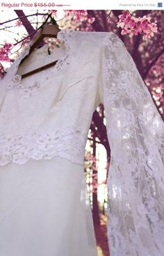 Vintage Lace #Wedding Dress by LaceOverHeels, $93.00