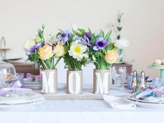 """Kids' Craft: """"Mom"""" Centerpiece for Mother's Day 