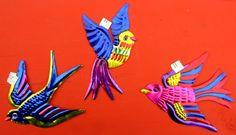 Christmas Tree Decorations, Christmas Ornaments, Holiday Decor, Bird Patterns, Mexican Folk Art, Crow, Tin, Moose Art, Abstract Art
