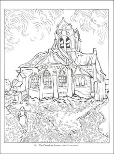 coloring page Vincent van Gogh on Kids-n-Fun. Coloring pages of Vincent van Gogh on Kids-n-Fun. More than coloring pages. At Kids-n-Fun you will always find the nicest coloring pages first! Cool Coloring Pages, Adult Coloring Pages, Coloring Sheets, Coloring Books, Kids Coloring, Art Van, Van Gogh Art, Vincent Van Gogh, Art Postal