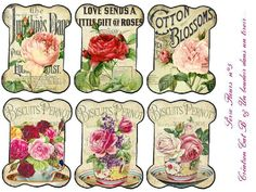 fleurs5 : vintage & shabby chic style printable images for DIY paper craft, tags, labels, ephemera, collage, scrapbooking, cards or decorations. Large variety of printable's, ideas & inspiration.