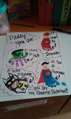 Favorite Superhero | DIY Fathers Day Cards from Kids