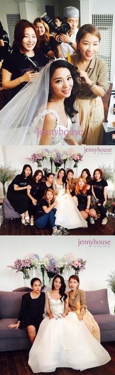 '8월의 신부' 한고은, 우아한 웨딩드레스 자태 공개 :: 네이버 TV연예