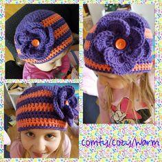 Kaylee's Crochet big flower hat Knit Crochet, Crochet Hats, Flower Hats, Big Flowers, Pattern, Fashion, Knitting Hats, Moda, Fashion Styles