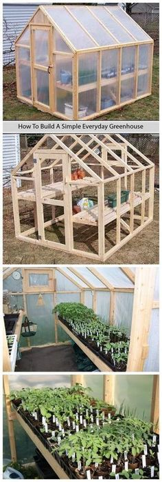 tutorial to build a simple everyday greenhouse on your own with simpler stuff that you might get for a few dollars.A tutorial to build a simple everyday greenhouse on your own with simpler stuff that you might get for a few dollars. Greenhouse Plans, Greenhouse Gardening, Small Greenhouse, Greenhouse Wedding, Backyard Greenhouse, Portable Greenhouse, Backyard Landscaping, Outdoor Projects, Garden Projects