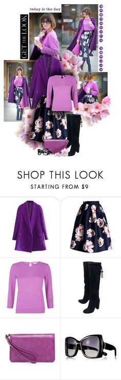 """""""Day in Purple"""" by sagramora ❤ liked on Polyvore featuring Chicwish, Monsoon, Lanvin, HOBO and Reed Krakoff"""
