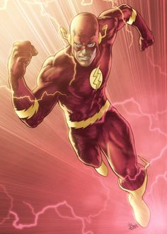 A new color sample, lines by Patrick [link] , colors by me. The Flash Colors Flash Barry Allen, Dc World, Ride The Lightning, Wally West, Fastest Man, Supergirl And Flash, Dc Comics Art, Dc Characters, Comic Styles