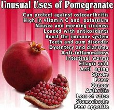 Check out the many benefits of pomegranates!  Re-pin and click here to receive a FREE sample of Vitamelts Vitamin C.  womanfreebies.com...