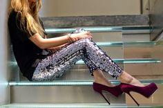 How to Wear Sequin Pants     The Villa Alphie