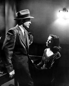 "Dana Andrews and Gene Tierney in ""Laura"" (Otto Preminger, 1944)."