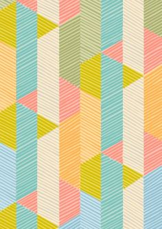Color + Triangles und Striche in bunt Textile Prints, Textile Patterns, Textiles, Textile Design, Pretty Patterns, Color Patterns, Surface Design, Backgrounds Wallpapers, Pattern Illustration
