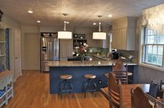 Gorgeous Kitchen by Bella Tucker with Styrofoam Ceiling Tiles