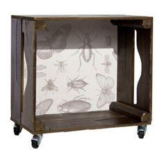 """40euros Beistelltisch """"Insects""""  dunkelbraun, grau  40 x 26 x 39 cm"""