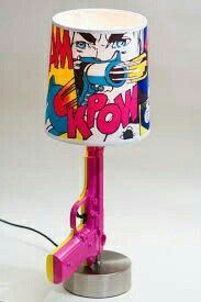 pop art lamp I could totally make this Pop Art Decor, Decoration, Wall Decor, Estilo Kitsch, Old Lamps, Cute House, Painted Furniture, Art Furniture, Diy Home Decor