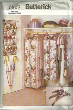 Captivating Butterick 6869 Closet Organizers Pattern Home Decor Sewing Pattern By  Mbchills Handbag Organization, Closet Organization