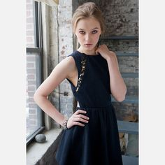 Varsity Dress Black now featured on Fab.