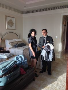 Our personal butler, Myo Min, attended to our every need!  #StRegisAbuDhabi, #AbuDhabi