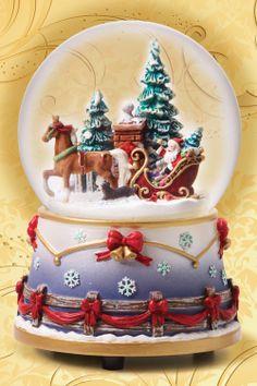 globe music boxes | Breyer 2012 Holiday Homecoming Musical Snow Globe - Minor Box Damage