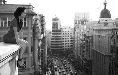 La Gran Vía (desde las alturas), Madrid