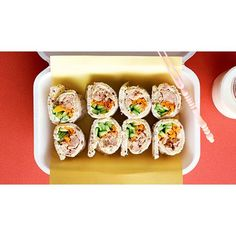 Tuna sushi sandwiches recipe - By Australian Women& Weekly, These delicious tuna sushi style sandwiches are perfect for a kids& lunchbox or light snack with drinks. School Lunch Recipes, Healthy School Lunches, Lunch Box Recipes, Sandwich Recipes, Snack Recipes, Lunch Ideas, Salads For Kids, Sushi For Kids, Sushi Sandwich