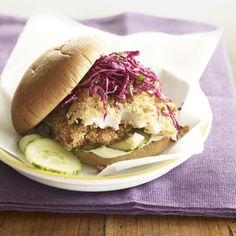 Crispy Fish Sandwiches - just in time for Lent :)