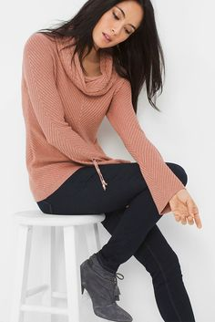 Stylist Note: Rugged cargos or destructed skinnies will give this soft sweater a little edge. Color Story | White House Black Market