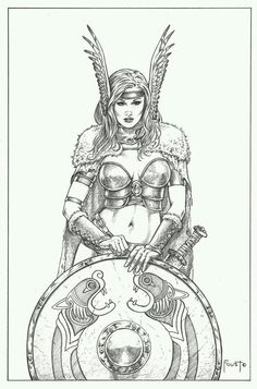 Shield maiden by Mitch Foust