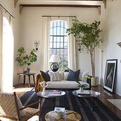 Striped Blue Rug, Eclectic, living room, Martyn Lawrence Bullard Design