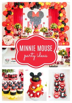 Minnie Mouse Birthday Party on Pretty My Party Minnie Mouse Theme Party, Mickey Mouse Birthday Cake, Mouse Parties, Disney Parties, Unique Party Themes, Adult Party Themes, Party Ideas, Birthday Party Venues, 1st Birthday Parties