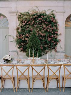 Dining table side view | Image by Bubblerock Wedding Table, Wedding Ceremony, Reception, Wedding Day, Wedding Planner, Destination Wedding, Marchesa Gowns, French Wedding Style, Blush Gown