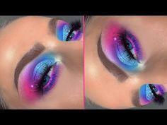 Pink Eyeshadow Look, Purple Eye Makeup, Makeup Eye Looks, Colorful Eye Makeup, Colorful Eyeshadow, Eyeshadow Makeup, Eyeshadow Ideas, Eyeshadow Tutorials, Eyeshadows