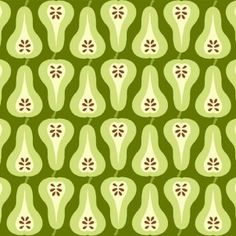 Makower - Juicy - Pears Green - cotton fabric
